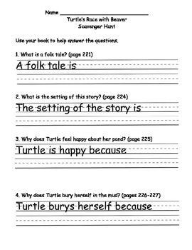 Scott Foresman Reading Street Gr. 2 Unit 2 Story 3 Comprehension Questions