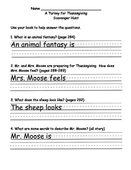 Scott Foresman Reading Street Gr. 2 Unit 2 Week 5 Comprehension Questions
