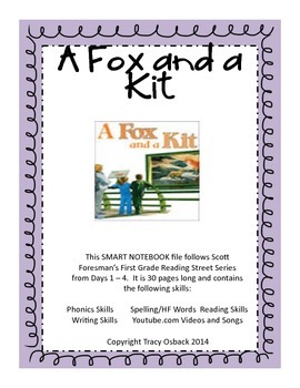 A Fox and a Kit  SMARTboard lesson Scott Foresman Reading Street Grade 1