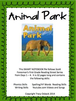 Animal Park SMARTboard Lesson Scott Foresman Reading Street Grade 1