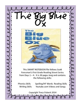 The Big Blue Ox SMARTBoard Lesson Scott Foresman Reading Street Grade 1
