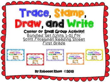 Scott Foresman Reading Street-Grade -1Trace, Stamp, Draw, and Write! Bundled Set