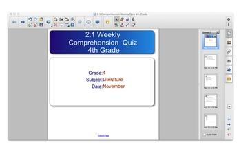 Scott Foresman Reading Street Grade 4 - 2.1 Comp. Quiz with SMART Resp. Quiz