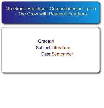 Scott Foresman Reading Street Grade 4 - Baseline Test SMART Resp. Quiz