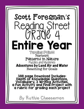 Scott Foresman Reading Street Grade 4 Complete Year!