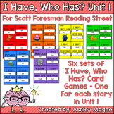 Scott Foresman Reading Street I Have Who Has Cards Unit 1 First Grade
