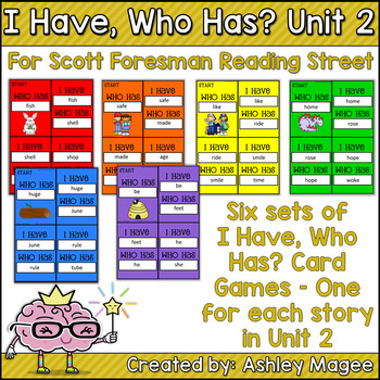 Scott Foresman Reading Street I Have Who Has Cards Unit 2 First Grade
