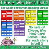 Scott Foresman Reading Street I Have Who Has Cards Unit 3 First Grade