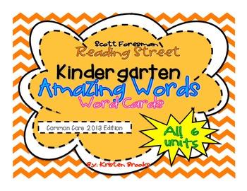 Reading Street Kindergarten Amazing Word Cards