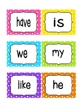Reading Street Kindergarten Sight Word Cards!