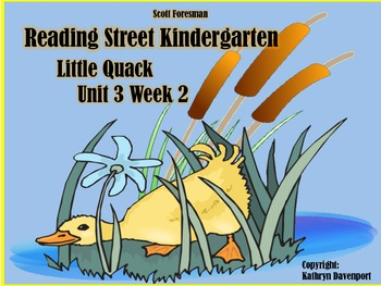 Scott Foresman Reading Street Kindergarten Unit 3 Week 2 Little Quack