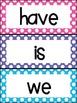 Scott Foresman Reading Street Kindergarten Word Wall Cards Polk Dot Theme