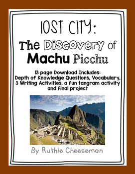 Scott Foresman Reading Street: Lost City