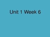 Scott Foresman Reading Street PowerPoint Unit 1 Week 6