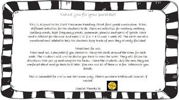 First Grade Scott Foresman Reading Street QR Codes Centers Units 1-5