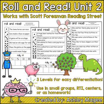 Scott Foresman Reading Street Roll & Read Fluency Practice Unit 2