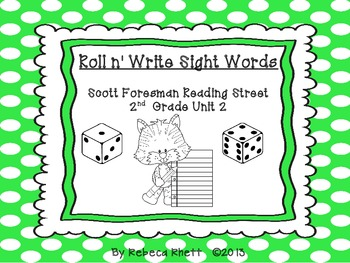 Scott Foresman Reading Street-Second Grade Unit 2 Roll n' Write Sight Words