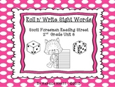 Scott Foresman Reading Street-Second Grade Unit 3 Roll n' Write Sight Words