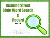 Kindergarten Sight Word Search & Record