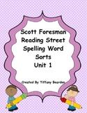 Scott Foresman Reading Street Spelling Sorts Bundle : Unit 1