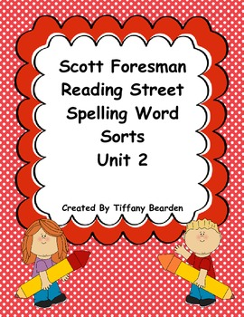 Scott Foresman Reading Street Spelling Sorts Bundle : Unit 2