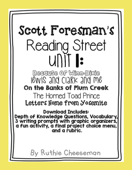 Scott Foresman Reading Street Unit 1,2 &3 Depth of Knowledge Questions and Vocab