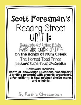 Scott Foresman Reading Street Unit 1, 2, & 3 Units Complete
