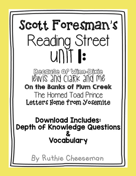 Scott Foresman Reading Street Unit 1 Depth of Knowledge Qu