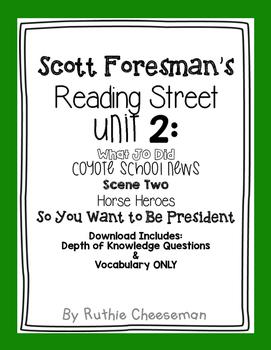 Scott Foresman Reading Street Unit 2: Teamwork Depth of Kn