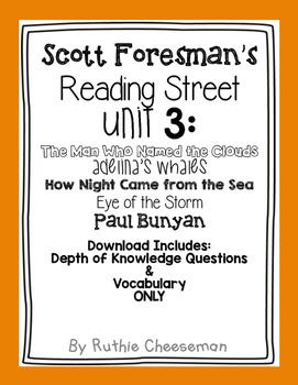 Scott Foresman Reading Street Unit 3 Depth of Knowledge Qu