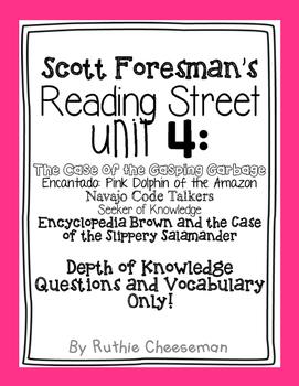 Scott Foresman Reading Street: Unit 4 Depth of Knowledge Q