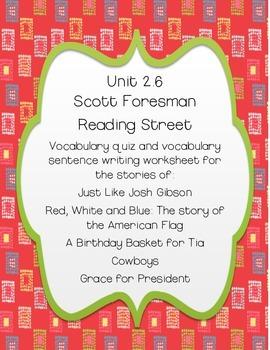 Scott Foresman Reading Street Unit 6 Second Grade Vocabulary Resources