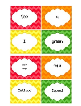 Scott Foresman Reading Street Unit R Amazing Word and High Frequency Word Cards