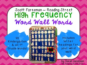 Scott Foresman Reading Street Word Wall Words {Headings Included!}