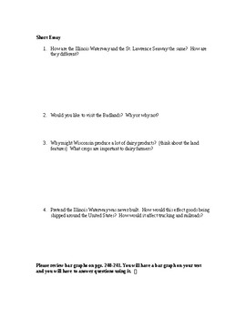 Scott Foresman Regions Ch. 8 Study Guide