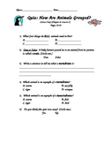 Scott Foresman- Science- Grade 3- Chapter 2: How Animals Live- Lesson 1 Quiz