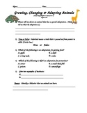 Scott Foresman- Science-Grade 3- Chapter 2:How Animals Live- Lessons 2 & 3 Quiz