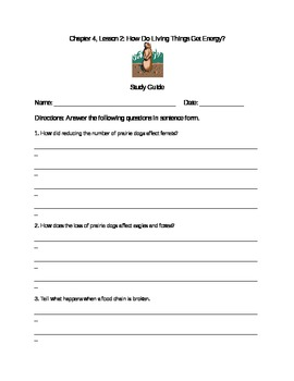 Scott Foresman Science Grade 3 Chapter 4.2 Study Guide
