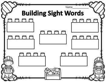 Building Sight Words Station {Scott Foresman Edition}