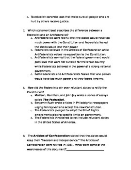 Scott Foresman Social Studies - The United States Chapter 10 Test