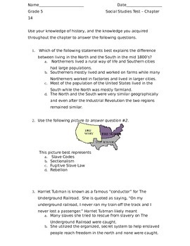 Scott Foresman Social Studies - The United States Chapter 14 Test