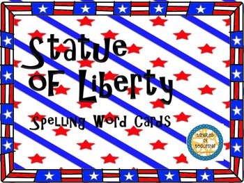 Scott Foresman Statue of Liberty Spelling Word Cards
