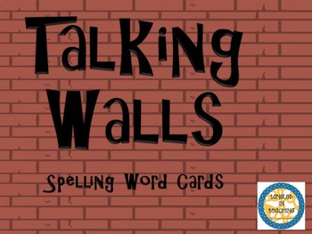 Scott Foresman Talking Walls Spelling Cards