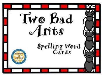 Scott Foresman Two Bad Ants Spelling Word Cards