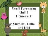 Scott Foresman Unit 1 Homework - First Grade