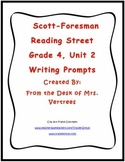 Scott-Foresman Unit 2 Grade 4 Writing Prompts with Rubric