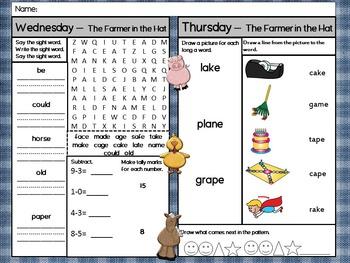 Scott Foresman Unit 2 Homework - First Grade