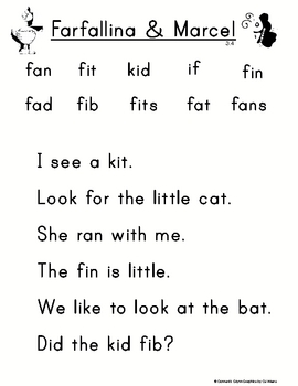 Scott Foresman Unit 3 Chart Sentences for Kindergarten