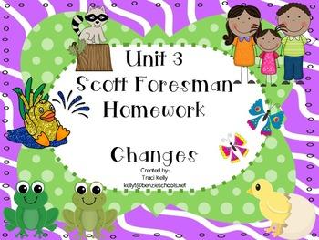 Scott Foresman Unit 3 Homework - 1st Grade