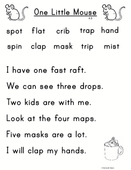 Scott Foresman Unit 4 Chart Sentences for Kindergarten